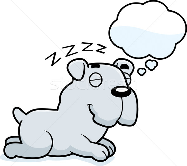Cartoon Bulldog Dreaming Stock photo © cthoman
