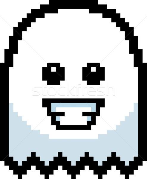 Smiling 8-Bit Cartoon Ghost Stock photo © cthoman