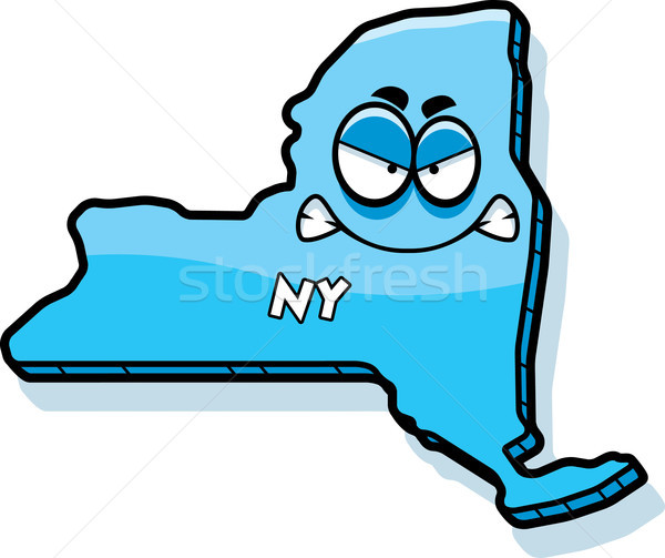 Cartoon Angry New York Stock photo © cthoman