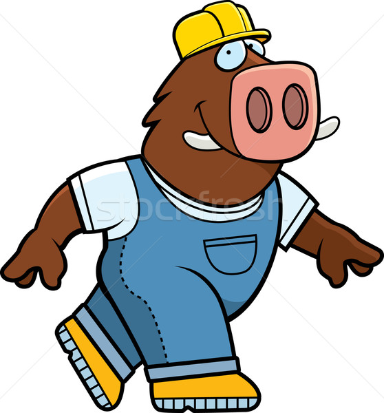 Boar Builder Stock photo © cthoman