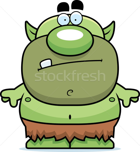 Stockfoto: Cartoon · groene · doek