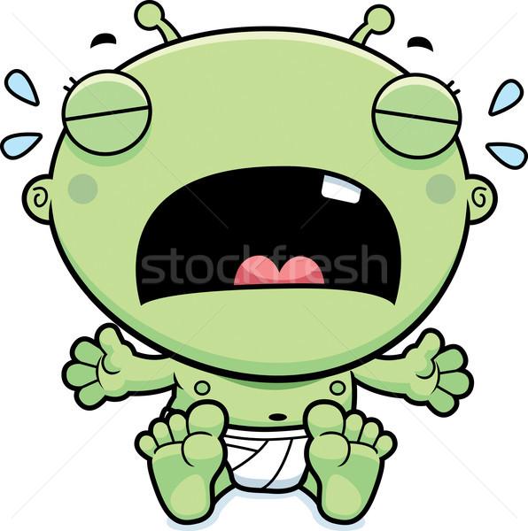 Cartoon Baby Alien Crying Stock photo © cthoman