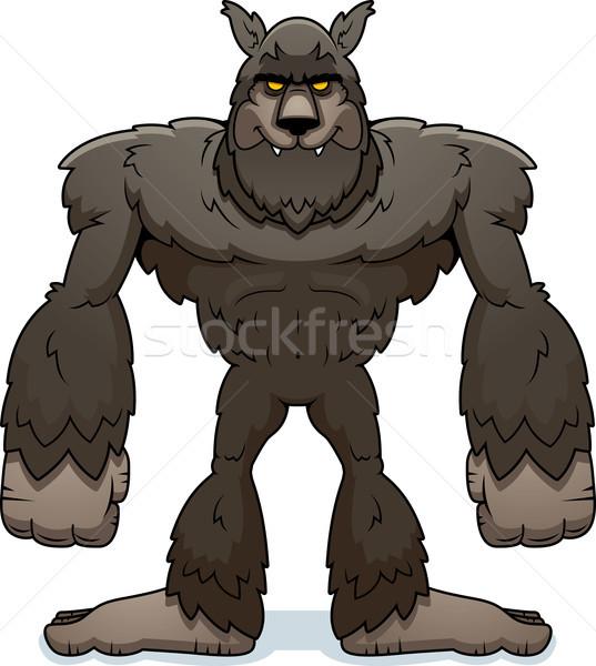 Karikatür kurt adam ayakta örnek Stok fotoğraf © cthoman