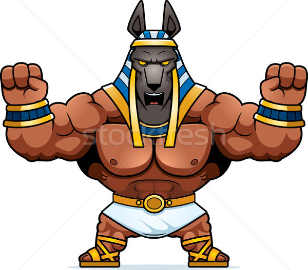 Cartoon Anubis Angry Stock photo © cthoman
