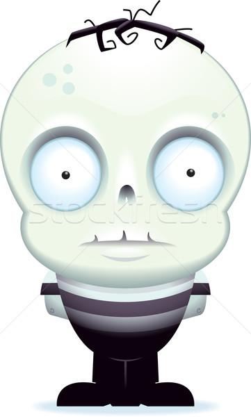 мало зомби Cartoon мальчика Постоянный Сток-фото © cthoman