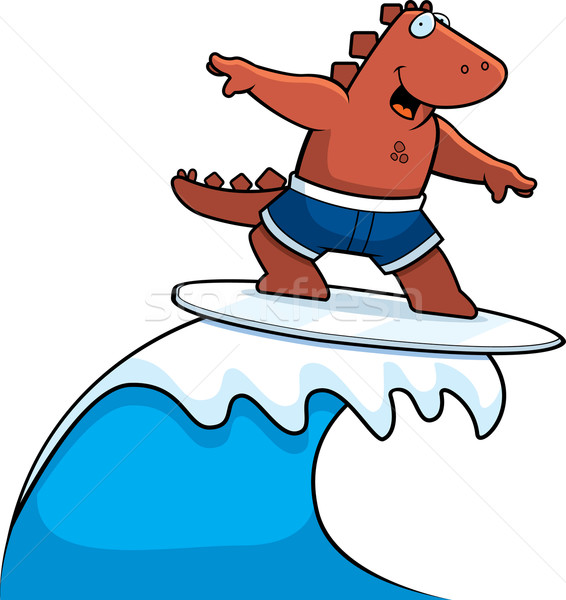 Dinosaur Surfing Stock photo © cthoman