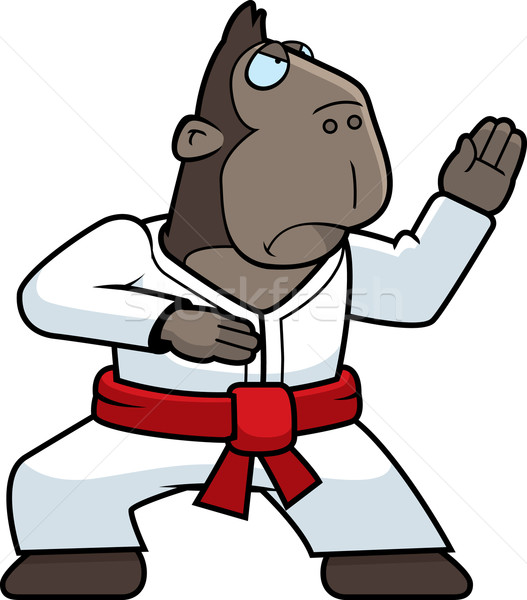 Karate Ape Stock photo © cthoman