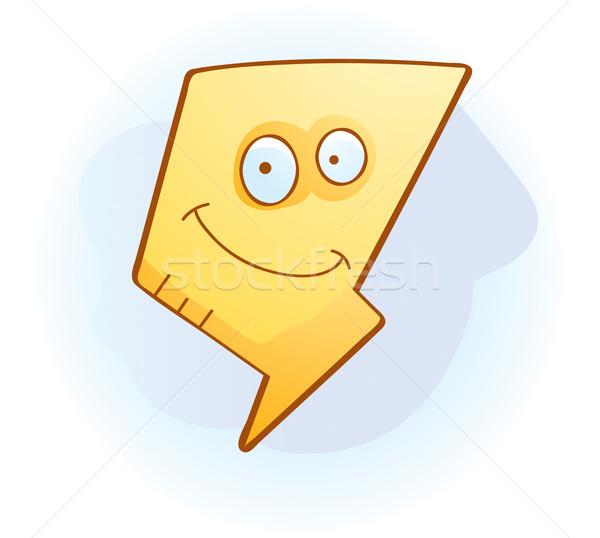 Foudre souriant cartoon heureux Photo stock © cthoman