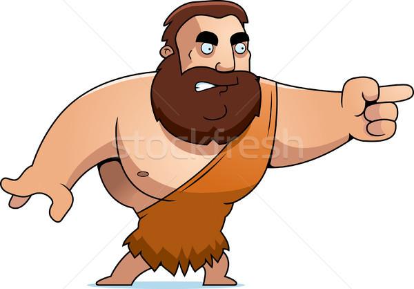 Cartoon Barbarian Angry Stock photo © cthoman