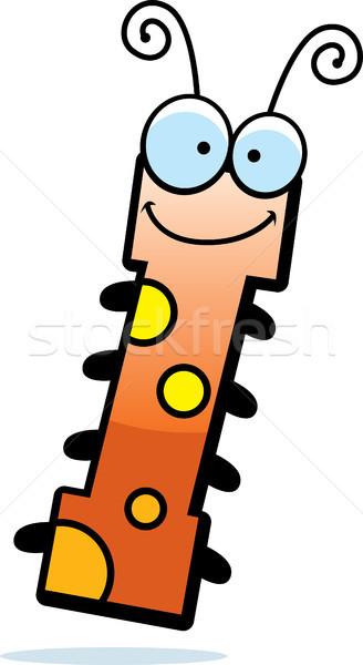 Desenho animado letra i bicho ilustração inseto feliz Foto stock © cthoman