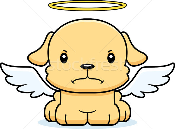 Cartoon Angry Angel Puppy Stock photo © cthoman