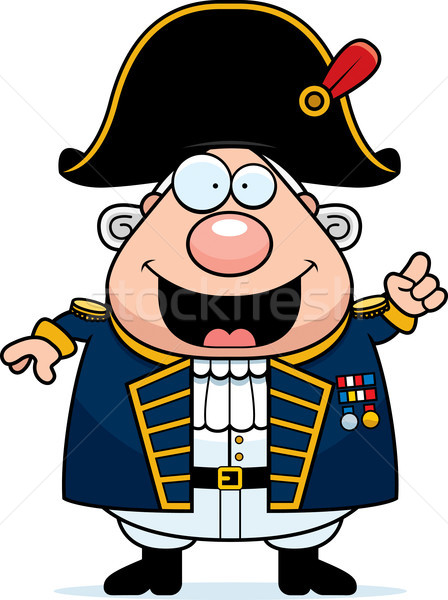 Cartoon British Admiral Idea Stock photo © cthoman