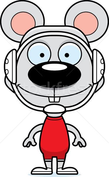 漫画 笑みを浮かべて レスラー マウス 動物 ストックフォト © cthoman