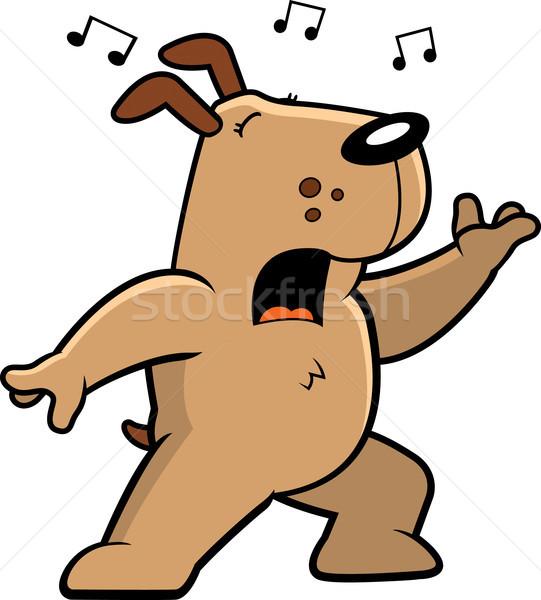 Dog Singing Stock photo © cthoman