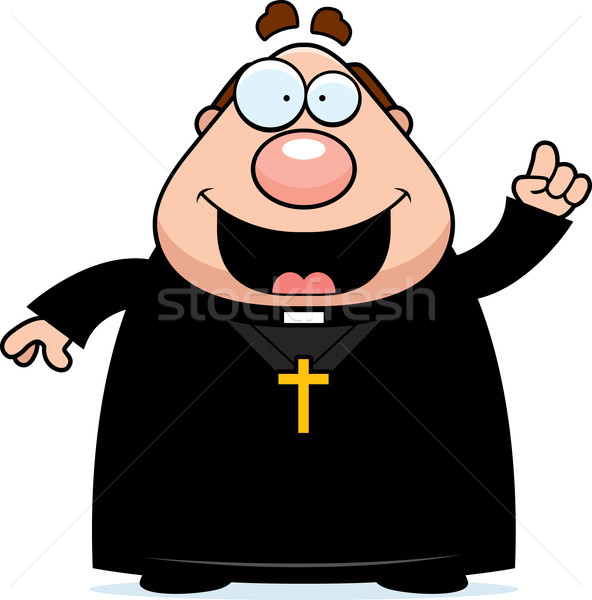 Cartoon priester idee illustratie mannen persoon Stockfoto © cthoman