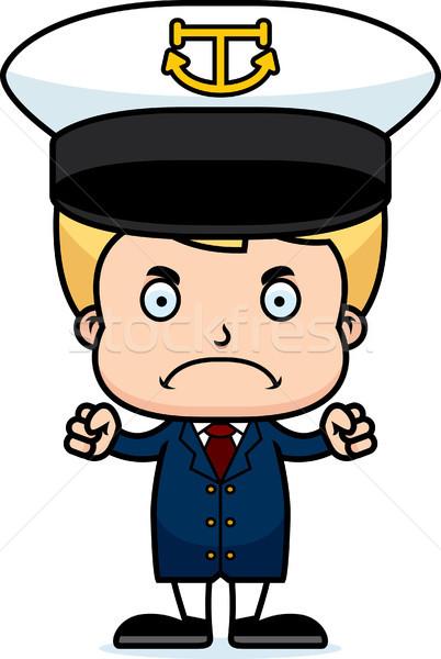 Cartoon Angry Boat Captain Boy Stock photo © cthoman