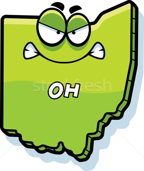 Cartoon boos Ohio illustratie naar amerika Stockfoto © cthoman