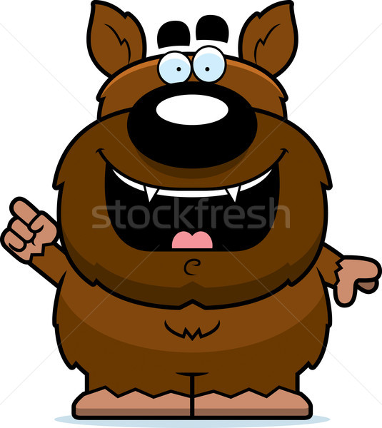 Cartoon Werewolf Idea Stock photo © cthoman
