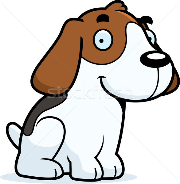 Cartoon Beagle Sitting Stock photo © cthoman