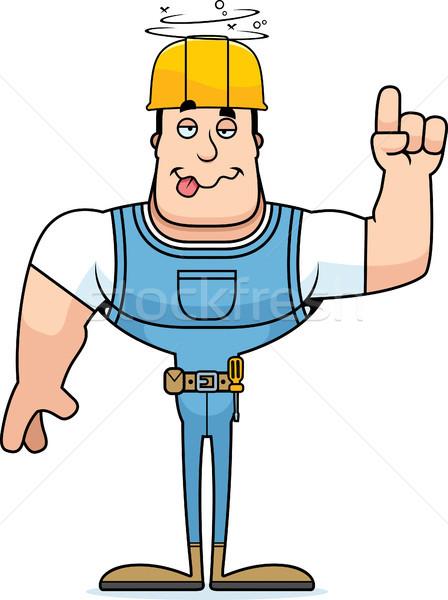 Cartoon dronken bouwvakker naar grafische Stockfoto © cthoman
