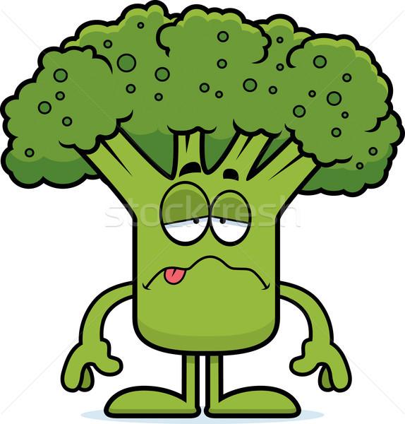 Malati cartoon broccoli illustrazione pezzo guardando Foto d'archivio © cthoman