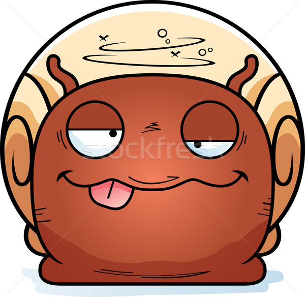 Dronken weinig slak cartoon illustratie naar Stockfoto © cthoman