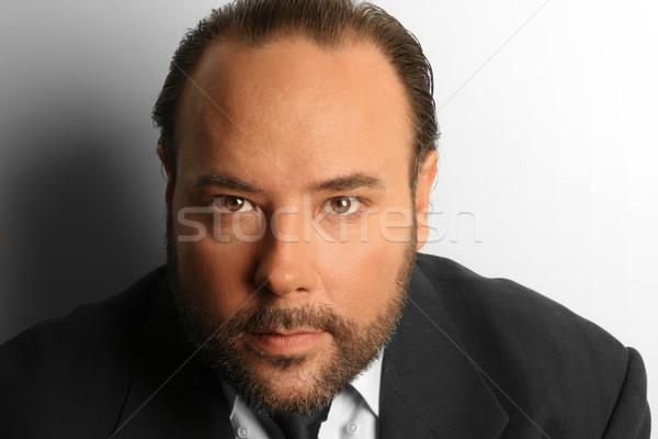 бизнесмен портрет старший бородатый глаза человека Сток-фото © curaphotography