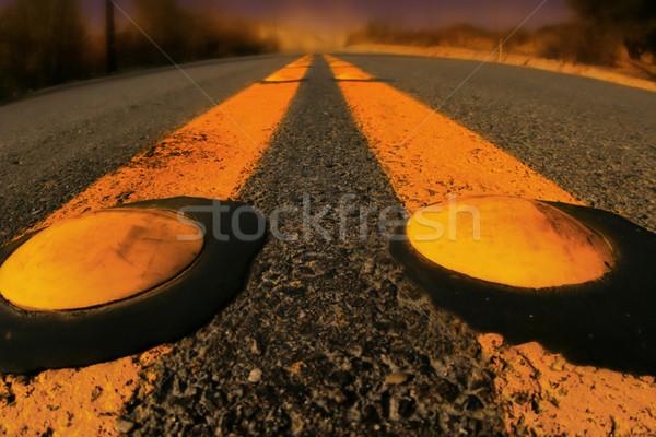 Stock fotó: Citromsárga · vonalak · út · közelkép · részlet · vidéki · út
