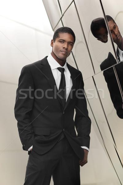 элегантный бизнесмен портрет глядя молодые Сток-фото © curaphotography
