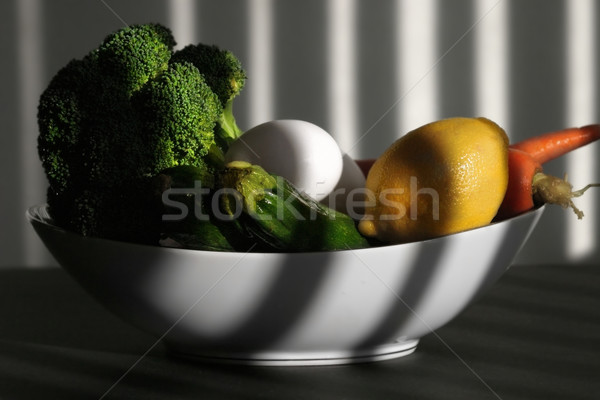 bowl of vegetables and eggs Stock photo © curaphotography
