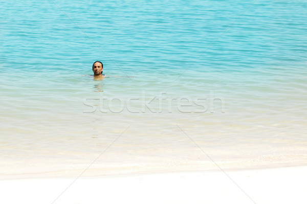 Man in water Stock photo © curaphotography