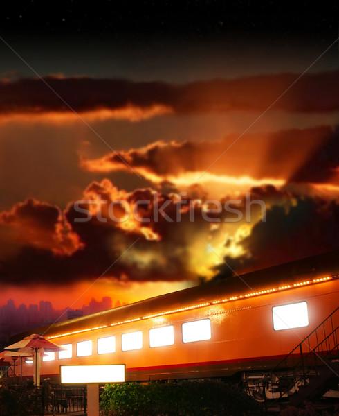 Izzó drámai fantázia fotó öreg vasút Stock fotó © curaphotography