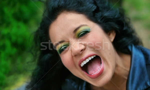 woman laughing Stock photo © curaphotography