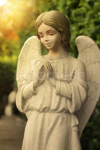 ангела красивой молиться искусства каменные архитектура Сток-фото © curaphotography