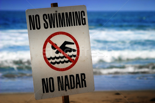 no swimming sign Stock photo © curaphotography