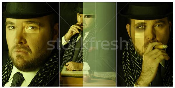 Af groot baas gestileerde zwaar Stockfoto © curaphotography