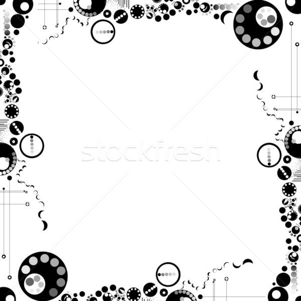 элегантный современных черно белые границе аннотация Сток-фото © curaphotography