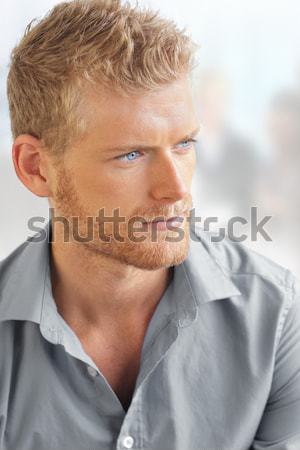 Trendy hipster young guy Stock photo © curaphotography