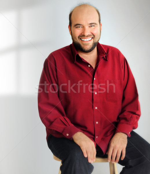 Happy smiling big man Stock photo © curaphotography