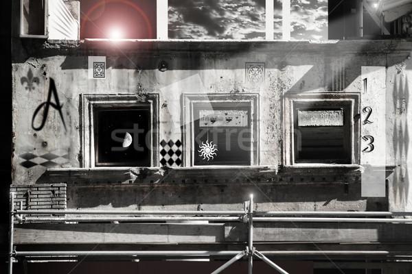 Governar três arte digital abstração windows Foto stock © curaphotography