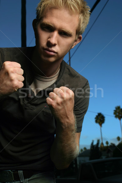 young man fighting Stock photo © curaphotography