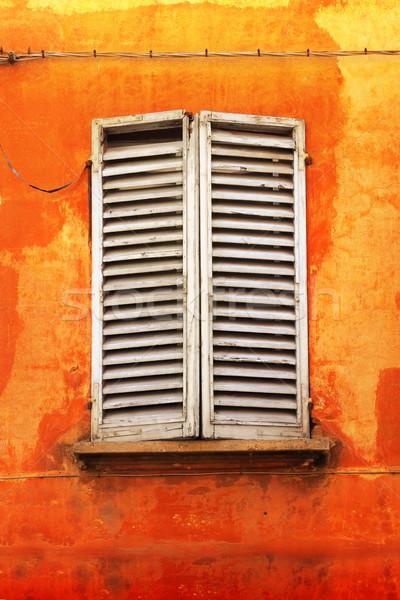 Arancione muro vecchio antica italiana Foto d'archivio © curaphotography