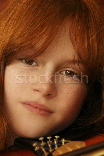 girl and violin Stock photo © curaphotography