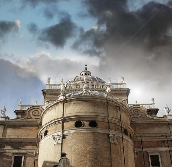 Katedrális külső Olaszország gyönyörű égbolt épület Stock fotó © curaphotography