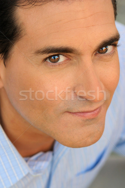 Closeup of a happy casual businessman Stock photo © curaphotography