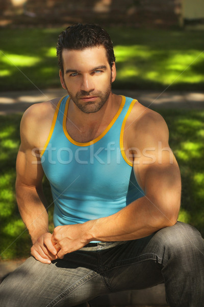 Masculine guy Stock photo © curaphotography