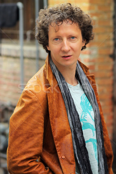 человека улице портрет уникальный глядя волос Сток-фото © curaphotography