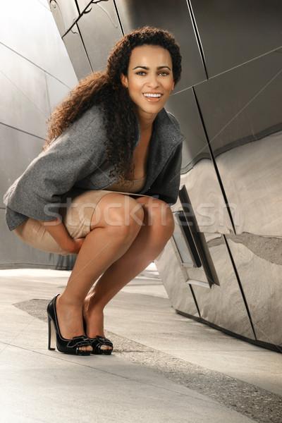 Donna d'affari sorridere ritratto felice etnica imprenditrice Foto d'archivio © curaphotography
