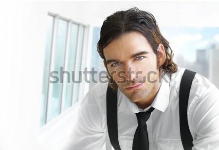 Moderno uomo d'affari ritratto bello imprenditore elegante Foto d'archivio © curaphotography