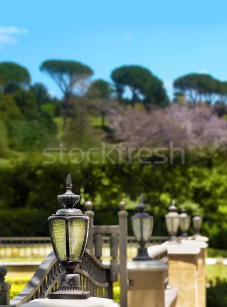 Lanternes rangée belle extérieur Photo stock © curaphotography